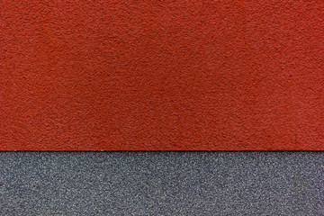 red and grey wall