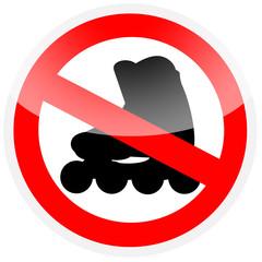 Sinal - Proibido andar de patins