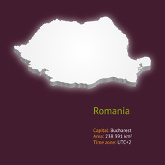 3d map of Romania