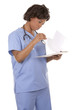 nurse holding notes
