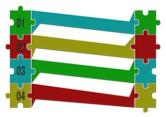 Puzzle menü vektör tasarımı