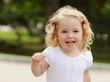 running toddler girl