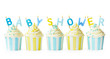 canvas print picture - Baby shower cupcakes