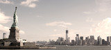 Panorama on Manhattan, NYC - sepia image - Fine Art prints