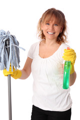 I love cleaning the house!