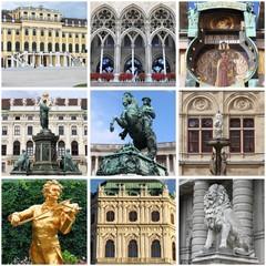 Vienna landmarks collage. Austria