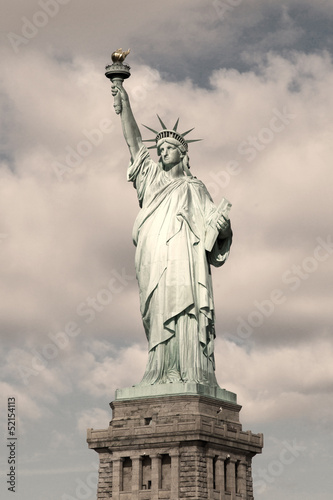 Statue of Liberty - sepia image