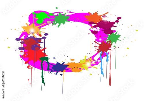 astratto con macchie di colori con spazio per scrivere