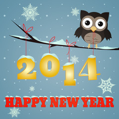 Owl Happy new year 2014