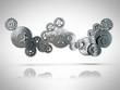 3D metallic cogwheel