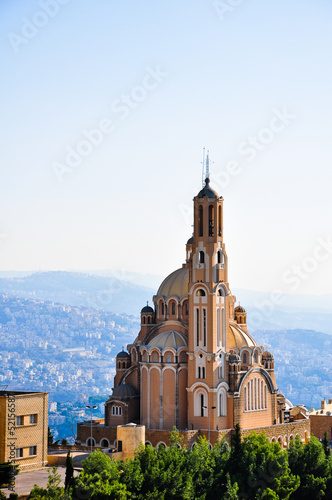 St Paul Basilica at Harissa near Beirut in Lebanon