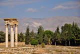 Ruins of the Umayyad city of Anjar in Bekaa Valley in Lebanon