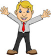 Young businessman happy and successful