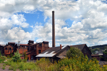 Building of the Quincy Copper Smelter