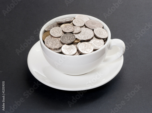 Expensive coffee with Australian coins