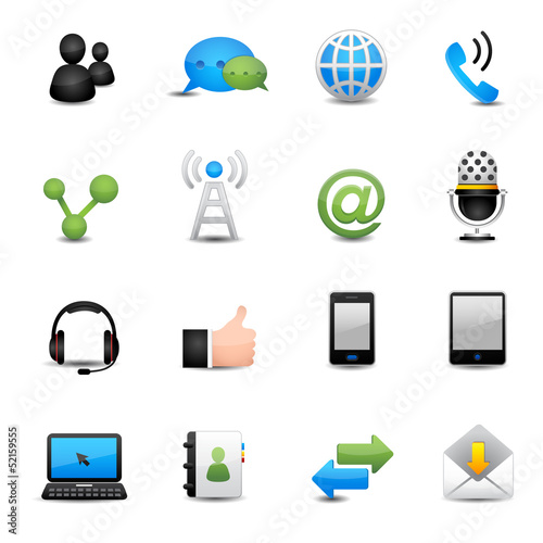 communication icons set