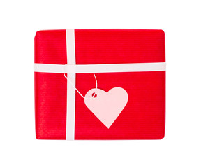 Gift of love with blank tag
