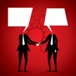 businessmen shake hand