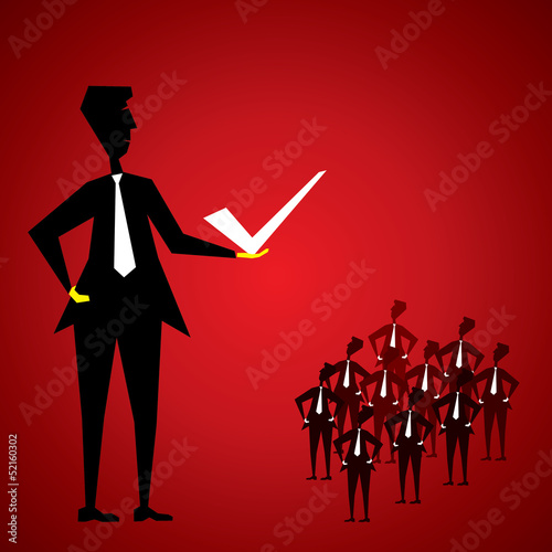 choose right thing stock vector