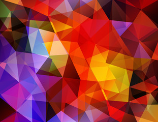 Abstract Polygonal Background. Vector Illustration