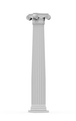 Historic ornamental column isolated