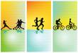 Sportarten, Fußball, Laufen, Radfahren