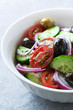 Mediterranean-style salad with marinated olives
