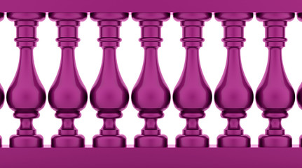 Purple historic balustrade