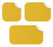 Etiquettes Kraft jaunes
