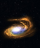 Spiral galaxy in deep space. - 52165151