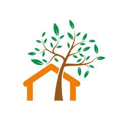 Logo eco-house # Vector