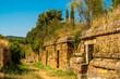 Leinwanddruck Bild - Tombs in Cerveteri