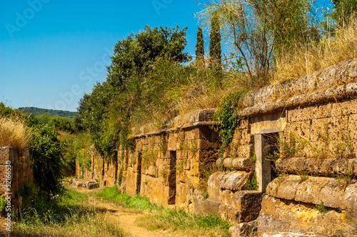Leinwanddruck Bild Tombs in Cerveteri