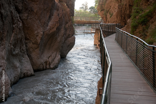 Boardwalk at Saklikent Gorge canyon (Turkey)