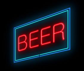 Neon beer sign.