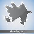 shiny icon in form of Azerbaijan