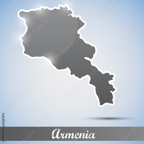 shiny icon in form of Armenia