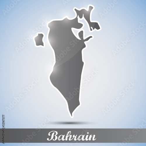 shiny icon in form of Bahrain