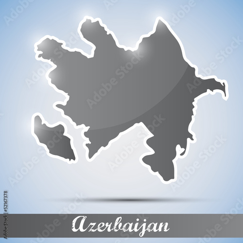shiny icon in form of Azerbaijan