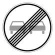 Ende des Überholverbotes für Kraftfahrzeuge aller Art