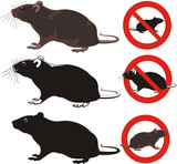 rat, rodent - warning signs poster