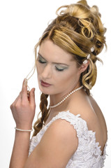 Beauty wedding hairstyle