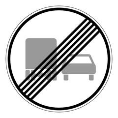 Ende des Überholverbotes für Kraftfahrzeuge über 3,5 Tonnen