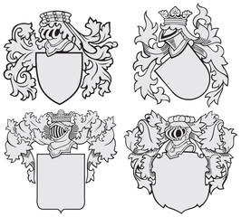 set of aristocratic emblems No10