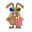 Chocolate bunny at the movies