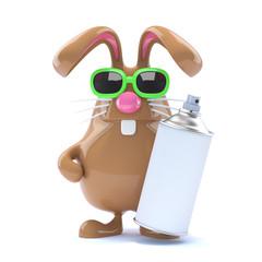 Chocolate bunny is a graffiti artist