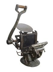 Old printing press machine