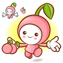 Cherry characters to promote fruit selling. Fruit Character Desi