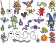 Halloween Cute Cartoon Characters