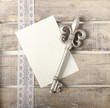 Silver key diary greeting card